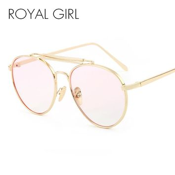 ROYAL GIRL Oversize Metal Round Eyeglasses