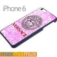 Versace Logo On Pink Glitter iPhone 6/6+ Series Hard Case