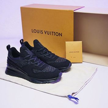 "Louis Vuitton SNEAKER VNR Men Sneaker ""Triple Black""HX3456-01"