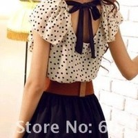 Polka Dot Chiffon Summer Dress