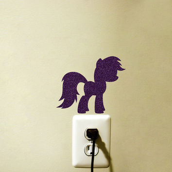 My Little Pony Velvet Sticker - Pony Fabric Decal - Pony Girl Wall Art- Teen Girl Room Decor