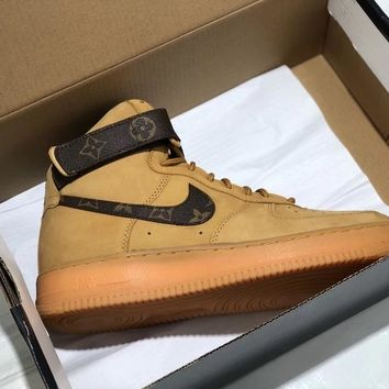 "Louis vuitton x Nike Air Force 1 High ""Flax"""