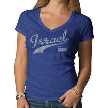 Licensed Sports Israel '47 Women's Country Scrum T-Shirt - Blue KO_20_2