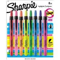 Sharpie Accent Retractable Highlighters, Assorted, Fine Point, 8/Pack