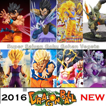 Anime Dragon Ball Z Super Saiyan 3 Son Goku Vegeta PVC Action Figure dbz Cell Buu Raditz Gohan Model Toy DragonBall GT 4 Frieza