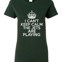 I Can't keep Calm The Jets Are Playing Tshirt. New York Jets Ladies and Unisex Styles. Great Gift Ideas.