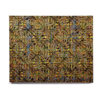 "Miranda Mol ""Tropical Camo Gold"" Gold Yellow Pattern Abstract Digital Mixed Media Birchwood Wall Art"