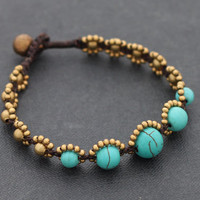 Turquoise Rhythm Beaded Bracelet by XtraVirgin on Etsy