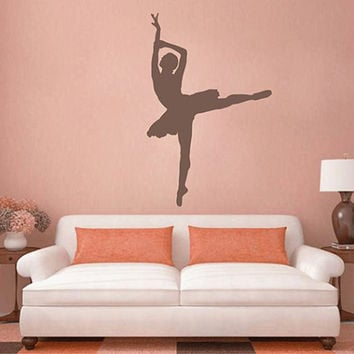 kik2273 Wall Decal Sticker ballerina dance ballet pas pirouette girl living room bedroom