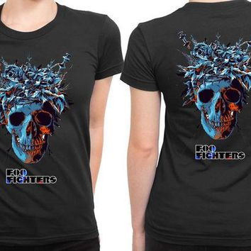 DCCKL83 Foo Fighters The Skull Posters 2 Sided Womens T Shirt