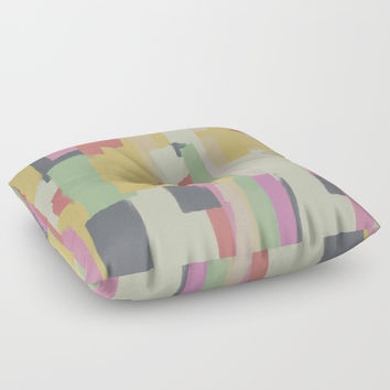 Abstract Painting No. 1 Floor Pillow by Metron