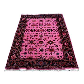 4x6 Overdyed Pink Area Rug Handknotted Wool Rug 2760