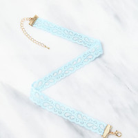 Light Blue Lace Choker