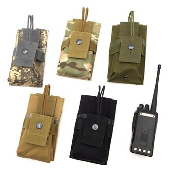 Brand new Outdoor multi-function camouflage walkie talkie tactical vest  accessory bag MOLLE system waist bag Pouch hunting bag