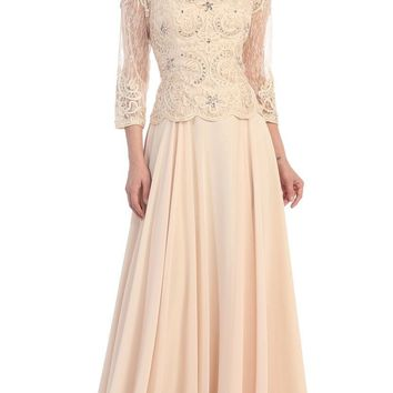 Long Sleeve Mother of the Bride Dress 2018