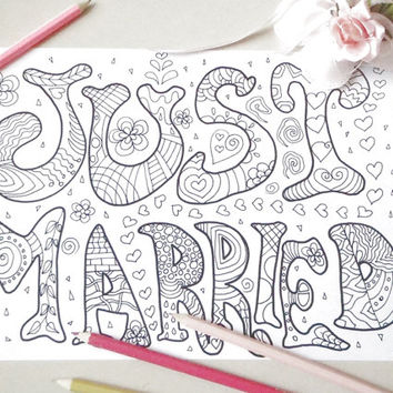 just married coloring card wedding groom bride page scrapbook colouring card download colouring home decor printable digital lasoffittadiste