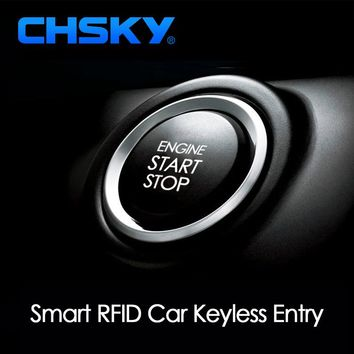CHSKY Car Engine Push Start Button RFID Engine Lock Ignition Keyless Entry System Go Push Button Engine Start Stop Immobilizer