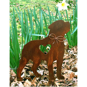 Rottweiler Dog Metal Garden Stake - Metal Yard Art - Metal Garden Art - Pet Memorial