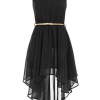 Asymmetric black dress. - View All  - Dresses