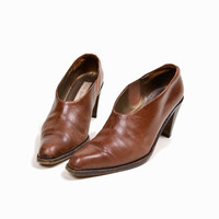 Vintage Low Leather Chelsea Booties - women's 7.5