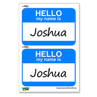 Joshua Hello My Name Is - Sheet of 2 Stickers