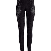 Velvet Leggings - from H&M