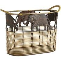 Mari Elephant Oval Basket