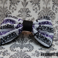 Purple and Black Asking Alexandria Hair Bow by AlexsMisfitToys