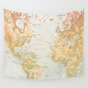 Pastel World Wall Tapestry by Sandy Broenimann