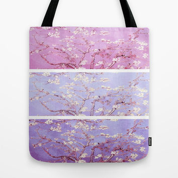 Almond Blossoms Vincent Van Gogh Panel Art Tote Bag by PureVintageLove