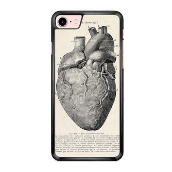 Heart Anatomy Vintage iPhone 7 Case