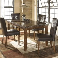 D328-25 Lacey Rectangular Dining Room Table - Medium Brown - Free Shipping!