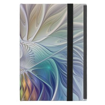 Floral Fantasy, abstract and modern Fractal Art Cases For iPad Mini