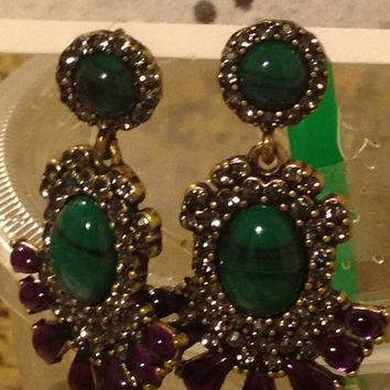 Baublebar Anthropologie Gem Stone Dangle Earrings