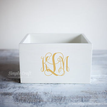 Recipe card box gold personalized recipe box memory recipe box wooden recipe box bridal shower recipe box white wooden recipe box wood box