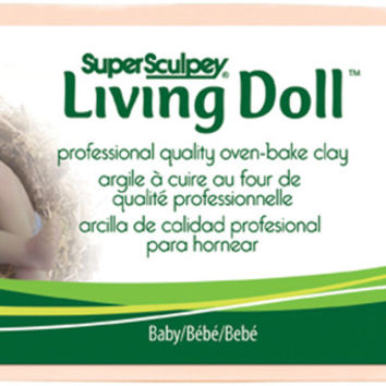 super sculpey living doll clay baby - 1 lb.
