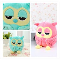 Pink or Blue Plush Owl Toy
