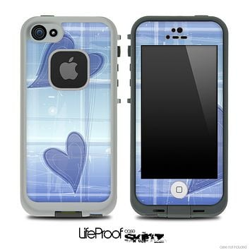 Purple Hearts Skin for the iPhone 5 or 4/4s LifeProof Case