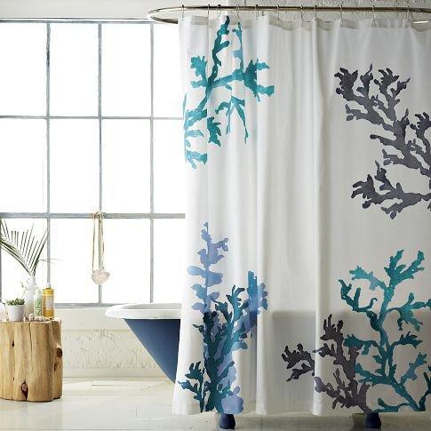 Coral Reef Shower Curtain   west elm