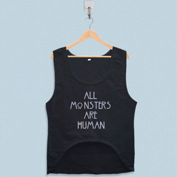Women's Crop Tank - All Monsters are Human