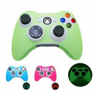 GLOW in DARK Xbox 360 Game Controller Silicone Case Skin Protector Cover (Many Colors Available)