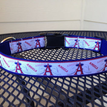 Dog Collar Made from Angels Baseball Ribbon by SweetKeeps on Etsy