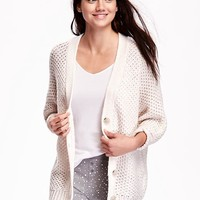 Old Navy Open Stitch Cocoon Cardigan