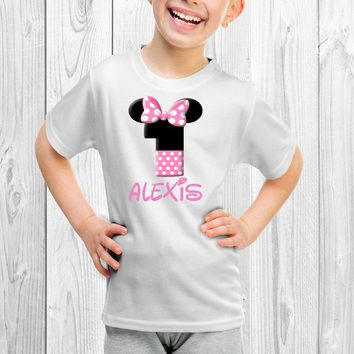 Custom Name Girl Mouse Any Age Kids Tee Shirt. T-Shirt Infant. Infant Tee. Toddler Tee. Infant Shirt. TShirt. Youth Shirt. Trendy Tee.