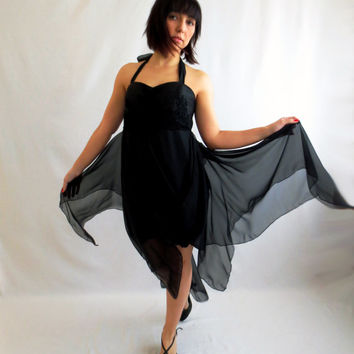 Womens dress,Black dress,Boho dress,Flamenco dress,New Years Eve,Prom dress, Party dress,LBD,Short dress,Evening dress,Cocktail dress