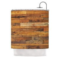 "Susan Sanders ""Woodstock"" Brown Tan Shower Curtain"