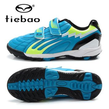 TIEBAO Football Shoes Soccer Cleats Kids Professional Soccer Cleats Shoes TF Soccer Shoes Sneakers Boys Trainers Football Boots