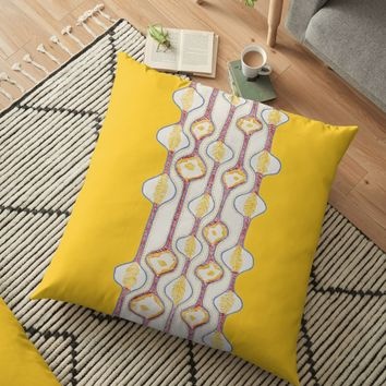 'Stitches - Growing bubbles' Floor Pillow by VrijFormaat