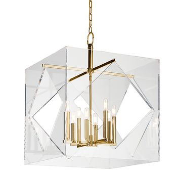 Restoration Warehouse Travis Chandelier - Brass | Candelabra, Inc.