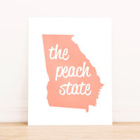 Georgia Art PrintableTypography Poster Dorm Decor Home Decor Office Decor Poster